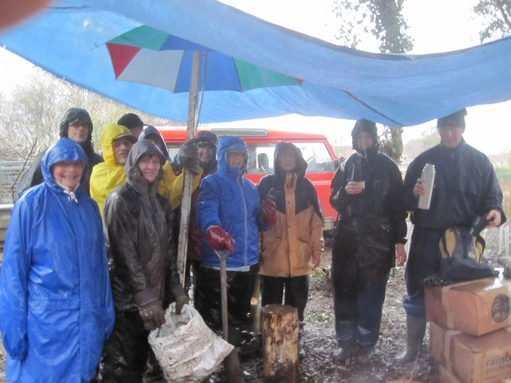 The weather was not so kind two days later on the Winter Work Party, Sunday 26th January.