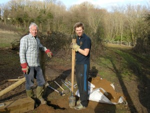 Ben as part of Leeds Grammar School's curriculum, volunteering to help installing entrance gateposts in the Ellikers.