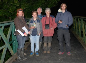 A few of the Trust members who attended the bat evening.... surrounded by Daubenton's bats!