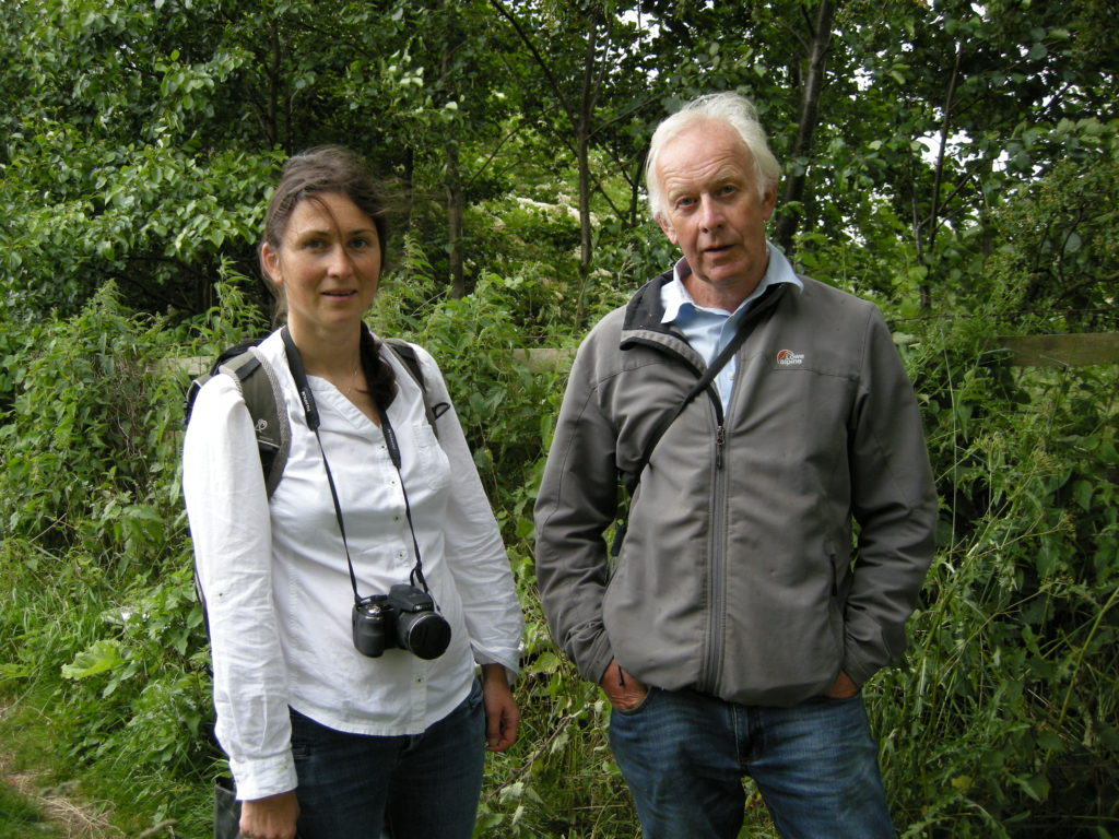 The Trust liaises with Natural England: Michelle Dickinson from Natural England inspected the status of Keswick Fitts SSSI