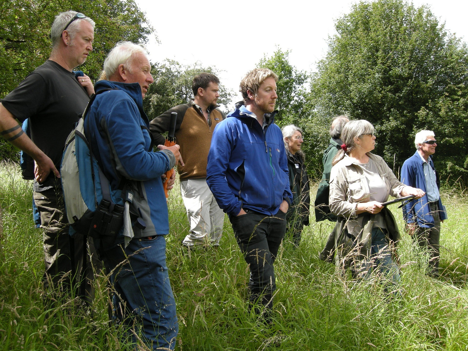 Attendees of the Flora Locale event examining the management strategies in Ox Close